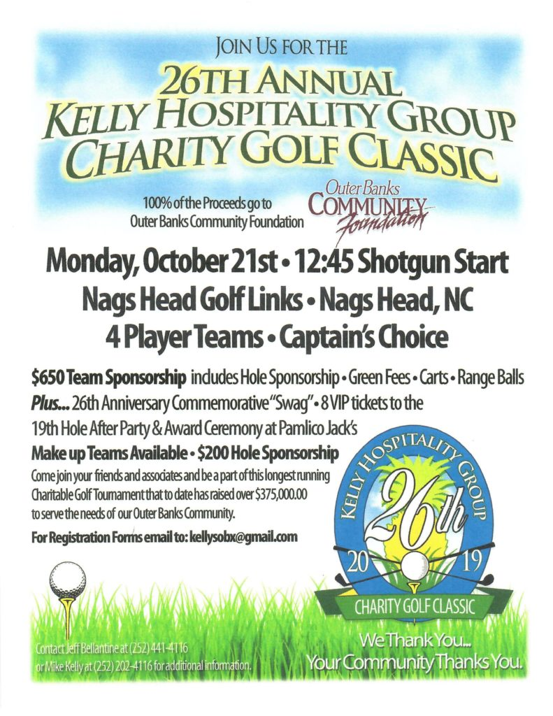 26th Annual Kelly Hospitality Group Charity Golf Classic
